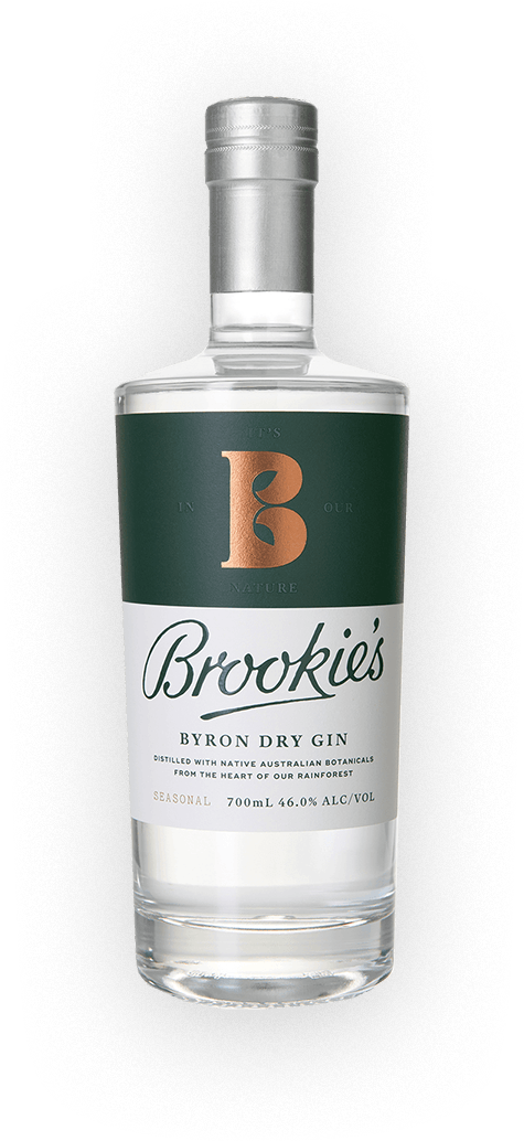 Brookie's Dry Gin Bottle